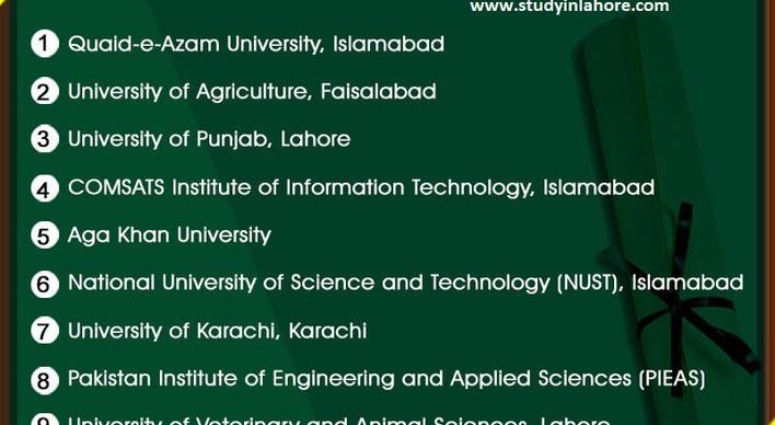 رتبهبندی دانشگاه های پاکستان بر اساس کمیسیون آموزش عالی پاکستان (HEC OF PAKISTAN)