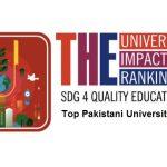 نظام رتبه بندی تاثیر تایمز ۲۰۲۰ ، حدود 23  دانشگاه پاکستانی قرار دارد